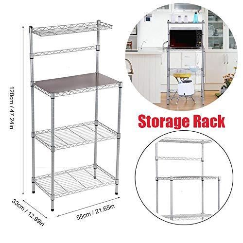 Estante organizador de 3 niveles para cocina, microondas ...