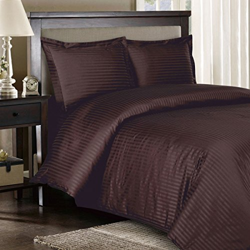 Royal Hotel's Queen Size Striped Chocolate 600-Thread