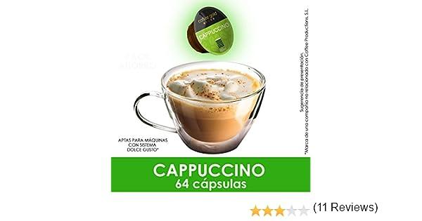 PACK AHORRO- 64 CÁPSULAS COMPATIBLES DOLCE GUSTO®* - CAPPUCCINO: Amazon.es: Alimentación y bebidas