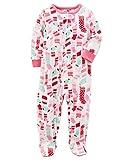 Carter's Girls' 12M-14 Christmas Stocking Fleece Pajamas Pink 2T