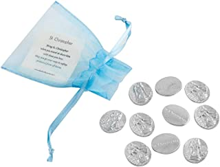 product image for DANFORTH - Vilmain Saint Christopher Pocket Tokens - Bag of 10 Pocket Coins - Pewter - Made in USA
