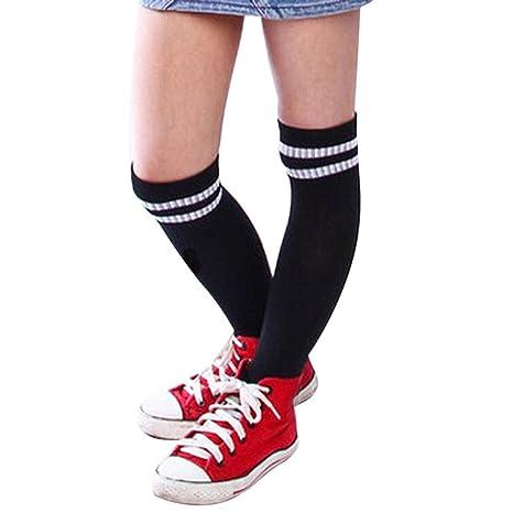 Malloom® Niños Niños Deporte Fútbol calcetines largos de alta calcetín Béisbol Hockey Calcetines (negro