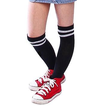 Malloom® Niños Niños Deporte Fútbol calcetines largos de alta calcetín Béisbol Hockey Calcetines (negro): Amazon.es: Ropa y accesorios