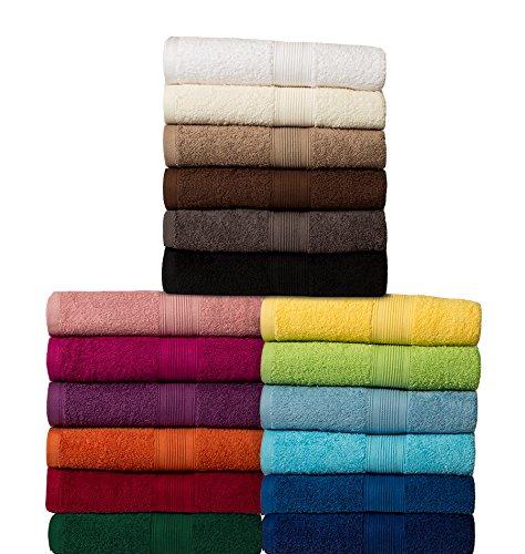 Klassisches Frottier-Set - Qualität 500 g/m² - alle Größen und Farben - 100% Baumwolle - 4 Set Varianten - 6er Pack Gästetücher (30 x 50 cm) - naturweiß / creme