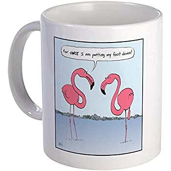 Amazon Com Pink Flamingos Coffee Mug Kitchen Amp Dining