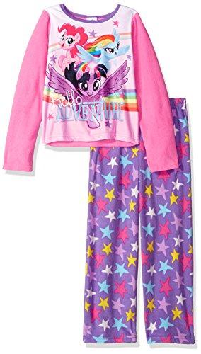 My Little Pony Little Girls' 2-Piece Fleece Pajama Set, Pink Adventure, 4