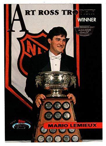 Mario Lemieux - Art Ross Trophy (Hockey Card) 1993-94 Topps Stadium Club # 148 Mint