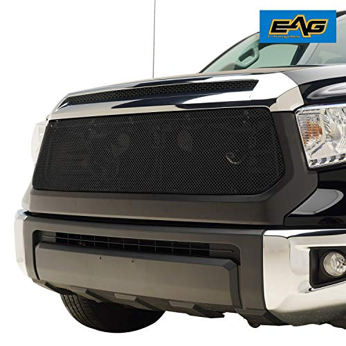 EAG Matte Black Replacement Grille Stainless Steel Mesh with ABS Shell Fit for 14-18 Toyota Tundra