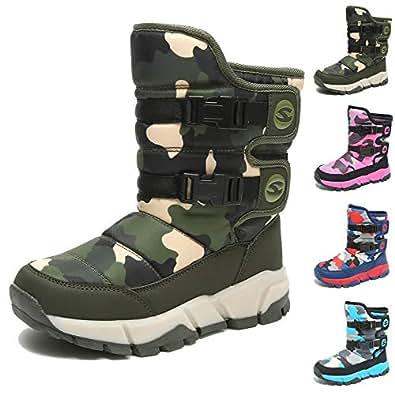 Amazon.com | MCICI Kids Boots Snow Boots Slip-On Faux Fur