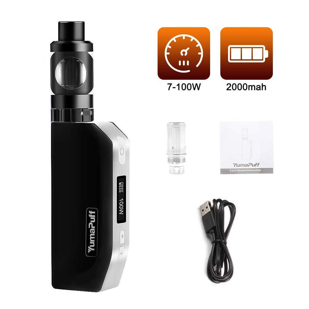 Cigarrillo Electrónico Vaping Kit, YumaPuff Lava 7W-100W, Mod. Caja de pantalla OLED 2000mah recargable, Sin Nicotina, No E Liquid
