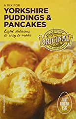 Made from enriched wheat flour, nonfat milk, salt, and pasteurized egg powder.Light, delicious, and easy to make.Easy to make, just add an egg.Product of the United Kingdom.