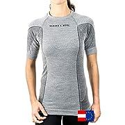 Merino & More Merino Shirt Damen – Merinowolle Funktionsshirt Unterwäsche Kurzarm – T-Shirt