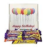 Cadbury British Chocolate Birthday Gift Box & Personalised Card