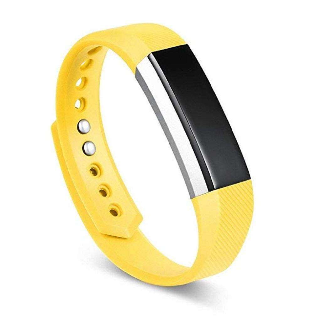 Fashion Clearance! Noopvan Replacement Accessories Straps for Fitbit Alta/Alta HR and Fitbit Ace, Classic Sport Wristbands Band for Large Small Women Men (Yellow, Small)