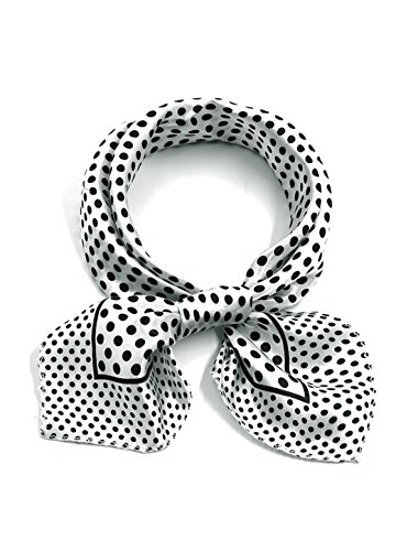 uxcell Women Square Shaped Dots Pattern Relaxed Neck Scarf - Square Women Shaped