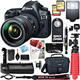 Canon EOS 5D Mark IV 30.4 MP Full Frame CMOS DSLR Camera + EF 24-105mm f/4L IS II USM Lens + Accessory Bundle