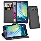 Cadorabo - Book Style Wallet Design for Samsung Galaxy A3 (SM-A300F ONLY for Model 2015) with 2 Card Slots and Stand Function - Etui Case Cover Protection Pouch in OXID-BLACK