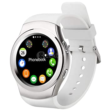 DROMATEC SW3 montre connectée sport, carte Sim carte SD Taille unique Blanche Bluetooth ultra performante : GSM ...