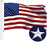 G128 - American USA US Flag 3x5 ft Embroidered Stars Sewn Stripes Brass Grommets