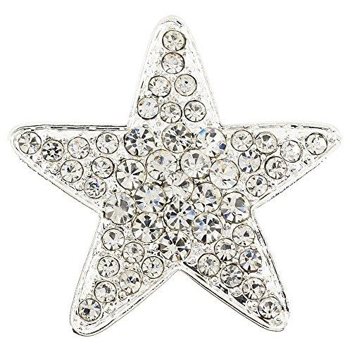 Chrome Star Crystal Brooch - Pin Crystal Star