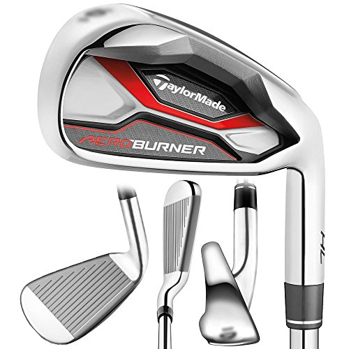 TaylorMade B1261807 Aero Burner HL Men's Graphite Iron Set-Right Hand-4-PW + AW-Graphite Regular, 8 ()
