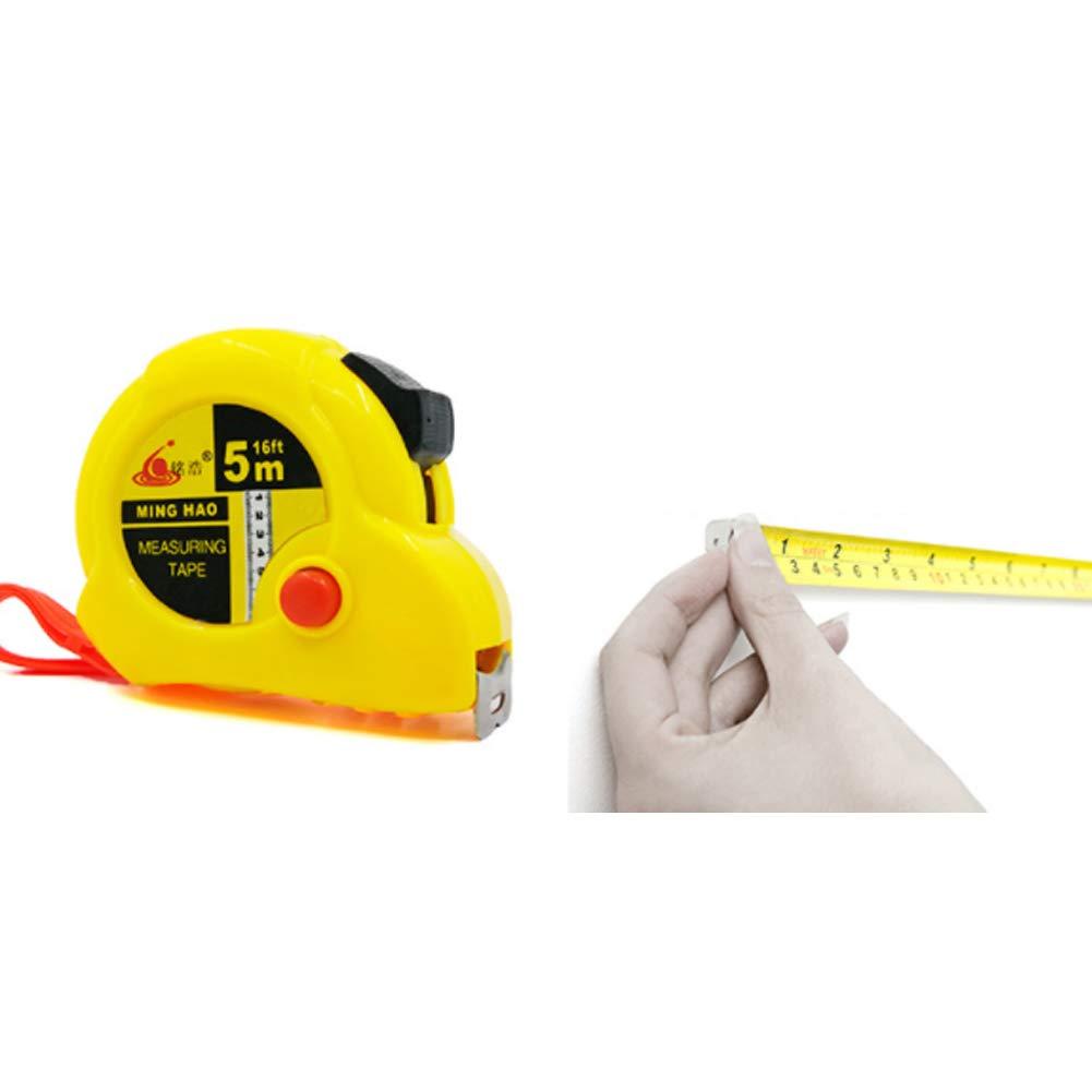 16 ft Stahl Ma/ßband Messen Zoll Ma/ßband mit Magnethaken Gelb