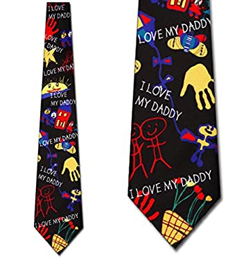 Daddys Drawings Tie Fathers Day Ties by Three Rooker
