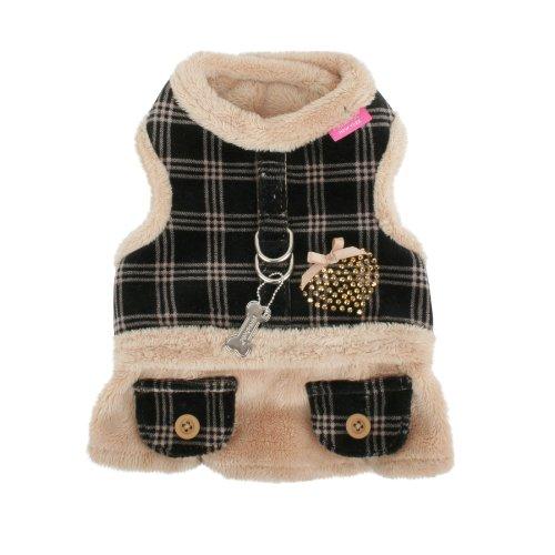 Pinkaholic New York Checkered Flirt Harness, Small, Beige, My Pet Supplies