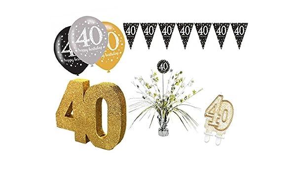 Fiesta Decorar Set Muñeco de 40 cumpleaños de 9 piezas de ...