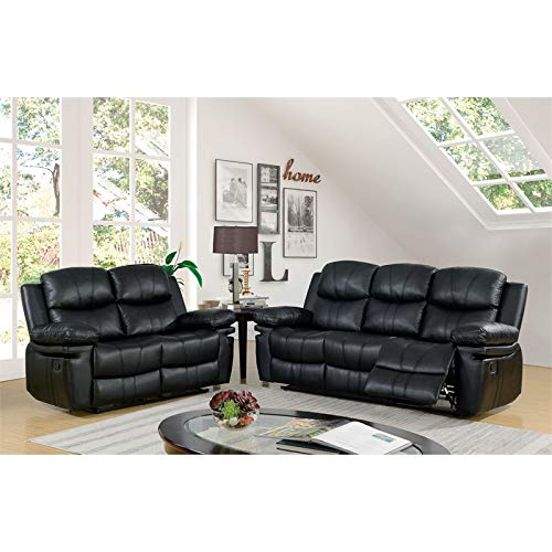 Amazon.com: Furniture of America Shiloh Recliner Sofa in ...
