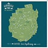 Adirondack Park, Personalized, Push Pin Map, New York State, 20X20 Inches, Ready to hang