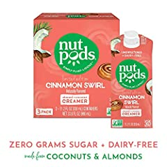 Crafted from the highest quality natural ingredients, nutpods creamer is the perfect plant-based alternative for your coffee, tea, and sweet & savory recipes. Now you can make the perfect cup of rich, creamy and indulgent coffee without c...