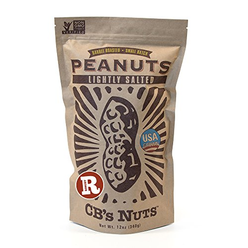 CB's Nuts USA Grown Non-GMO Lightly Salted Robust Roast Peanuts, 12 - Shell Peanuts Salted