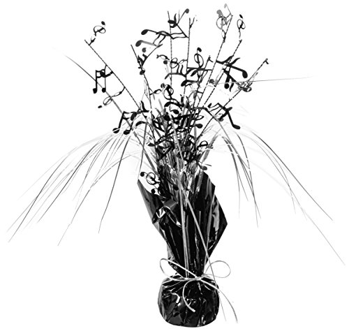 (Beistle 57921 1-Pack Musical Notes Gleam 'N Spray Centerpiece,)