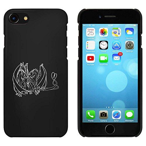 Noir 'Dragons Amoureux' étui / housse pour iPhone 7 (MC00076055)