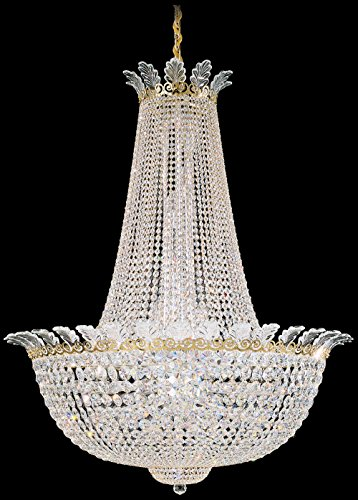 - Schonbek 3722-22S Swarovski Lighting Roman Empire Chandelier, Heirloom Gold