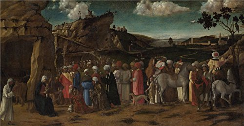 Oil Painting 'the Workshop Of Giovanni Bellini The Adoration Of The Kings' 10 x 19 inch / 25 x 49 cm , on High Definition HD canvas prints is for - West 49 Sunglasses