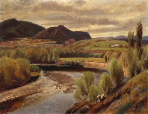 Oil Painting 'Eugene Edward Speicher,Murray River,1933', 10 x 13 inch / 25 x 33 cm , on High Definition HD canvas prints is for Gifts And Basement, Garage And Kids - Evil Costume Minion Diy