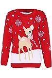 Girl Talk Clothing Childrens Deer Christmas Knitted Jumper