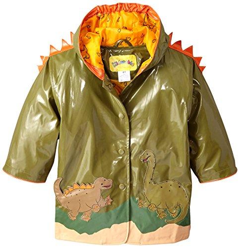 Kidorable Apparel - Kidorable Boys' Little Dinosaur All Weather Waterproof Coat, Green, 5/6