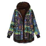Respctful✿Autumn Winter Jackets Women Parka Warm Jackets Long Sleeve Coats Cotton Linen Fluffy Fur Zipper Parkas Outwear Blue