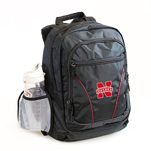 Logo Chair, Inc 1 Pc, Nebraska Cornhuskers Backpack Stealth Style, Fabric, Solid, Up To 17