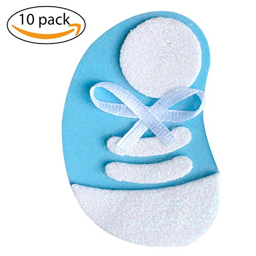 Cute Baby shower Pin, set 10 pieces, Blue Tennis Shoes, decorations, Handmade Baby Shower Pins for guest to wear, ornament to decore your party. Craft ideas, use in Baby Gender Reveal Party.