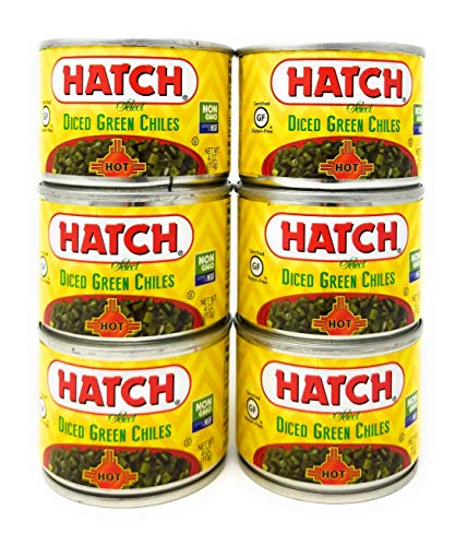 Hatch Diced Green Chiles 4oz HOT (QTY 6) ()