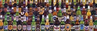 Beers of the World Alcohol Beer Bottles Collage Novelty Drinking Poster Print 12x36