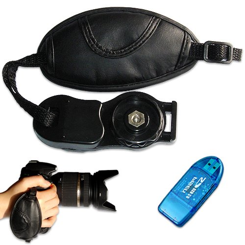 first2savvv new leather digital camera SLR hand strap grip for FUJIFILM FinePix S4530 with card reader