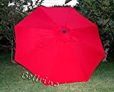 Cheap New Replacement Umbrella Canopy for 8FT 8 Ribs, Color: Red (CANOPY ONLY)