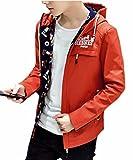 korean clothing for men - Pivaconis Mens Long Sleeve Korean Stylish Autumn Slim Fit Hooded Jacket 1 S