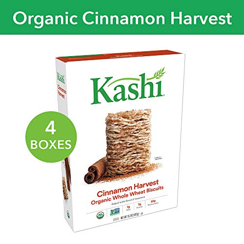 (Kashi, Breakfast Cereal, Cinnamon Harvest, Non-GMO Project Verified, 16.3 oz(Pack of 4) )