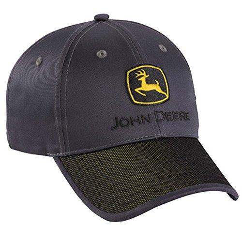 Chino Twill Hat (John Deere Charcoal Chino Twill Cap)